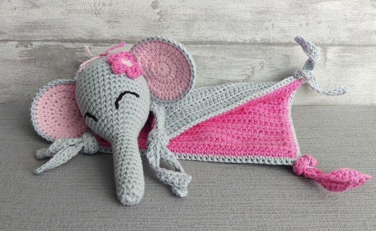 Schmusetuch Häkeln Elefant Schnuffeltuch