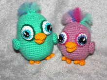 colored birds crochet pattern