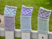 "Wrist warmers ""Claire"", knitting pattern, 2 sizes"