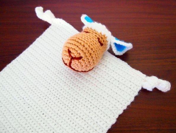 Kuscheltuch Entspanntes Schaf Häkeln Diy