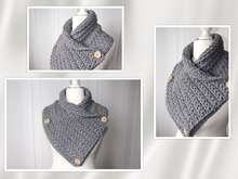 crochet pattern for a shawl collar with stars