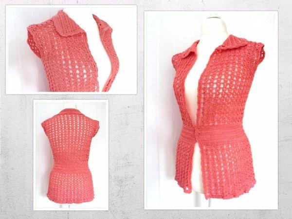Crochet Pattern For A Summer Top Summer Cardigan Size 38 46 Eu