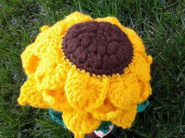 Blumenkind Häkeln Mit Sonnenblumenkranz