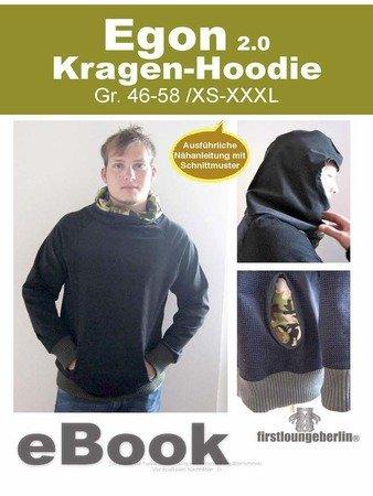 029d70c55e Egon Kragen Pullover, Hoodie Sweater Sweatshirt Nähanleitung mit  Schnittmuster Hoody Männer Unisex Gr. XS-XXXL
