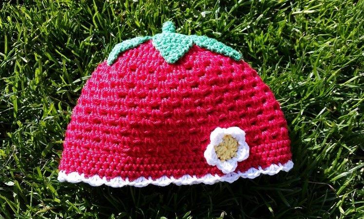 Erdbeer Mütze Häkeln Mütze Für Alle Größen