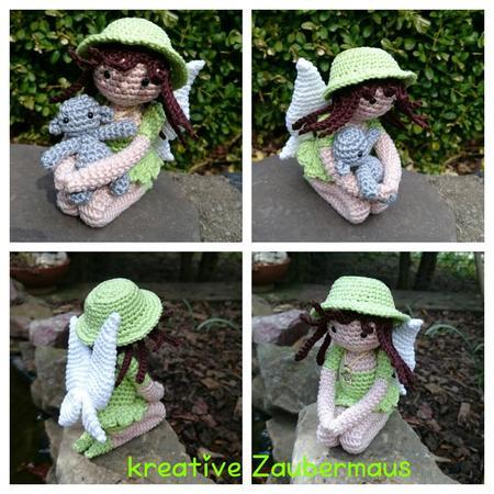 Elfe Häkeln Elegante Puppe Mit Hutflügeln