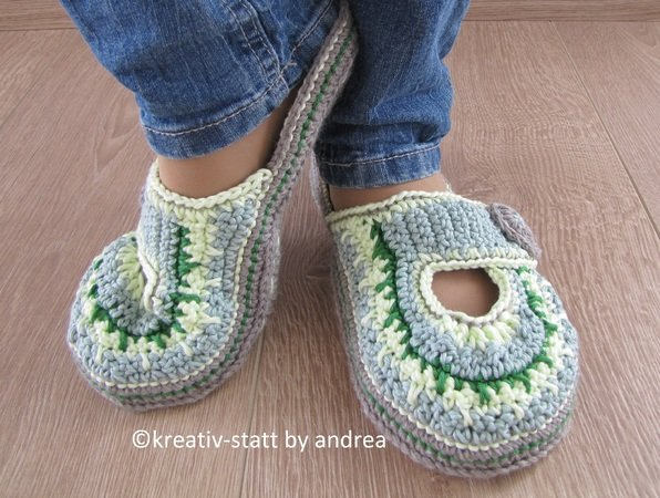 Slippers Clogs Pantolette All Sizes For Beginners Crochet Pattern