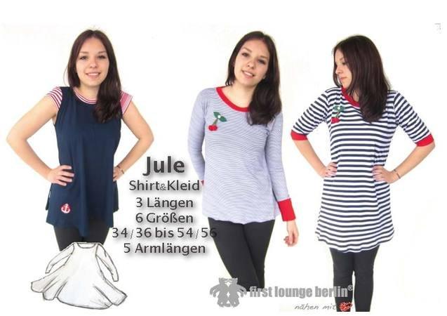 Jule *** E-Book PDF-Datei für Shirt & Kleid Gr. XS-XXL Nähanleitung ...