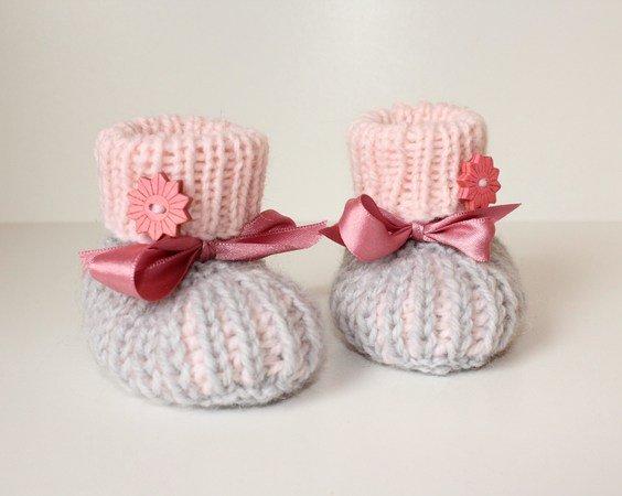 Babyschuhe stricken / Booties / Halbpatent