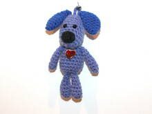 dog keychain crochet pattern