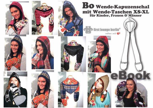 Bo *** eBook PDF-Datei Wende-Kapuzenschal mit Wende-Taschen für ...