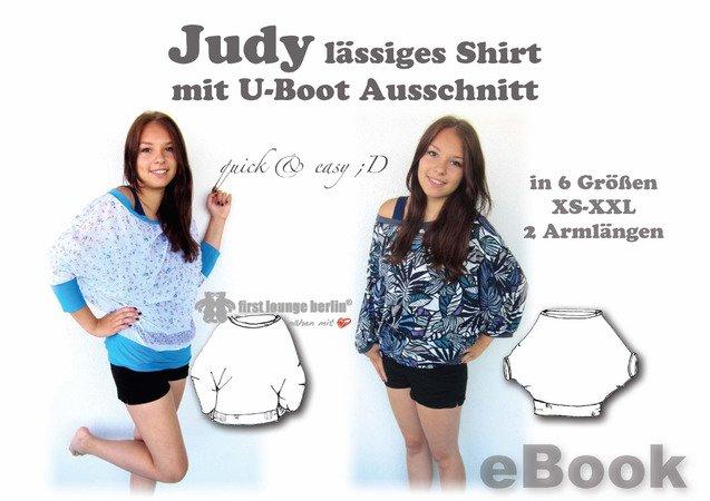 Judy *** E-Book PDF-Datei Big Shirt Nähanleitung & Schnittmuster in ...