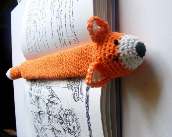 Lesezeichen Fuchs Häkeln Knuffiges Gesicht
