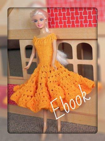 E Book Barbie Kleid Puppenkleidung Stricken