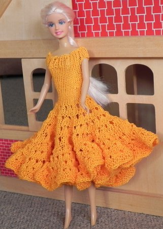 E-Book: Barbie Kleid, Puppenkleidung stricken
