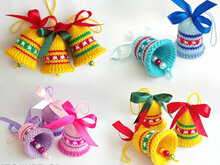 088 Knitting Pattern - Bells decor. New Year, Christmas, Easter Amigurumi - by Zabelina Cp