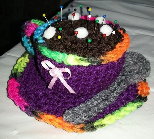 Hot Cocoa Pin Cushion