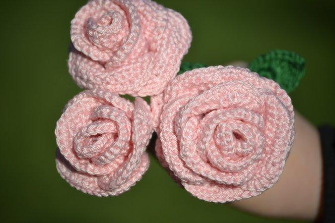 Rose Häkeln Rosenstrauß Muttertag Valentinstag Tolle Geschenkidee