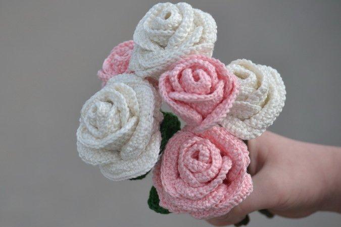 ROSE - häkeln, Rosenstrauß, Muttertag, Valentinstag, tolle Geschenkidee