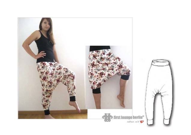 "US-Olga *** E-Book PDF file bloomers pants patterns size XXS-XXL sewing instructions ""quick & easy"" design by firstloungeberlin"