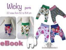 US-Wicky *** E-Book Pdf file Jersey Pants bloomers for Babys and childs age 0-13+ pattern sewing instruction design by firstloungeberlin
