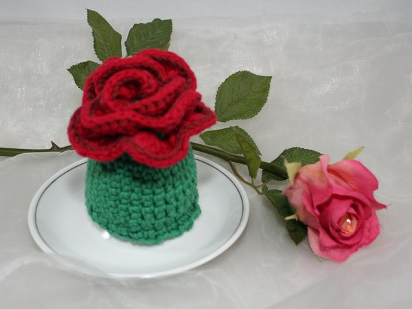 Egg Cozies - Rose - Crochet Pattern