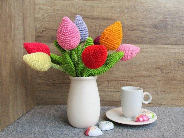 Tulpe Häkeln Tollen Blumenstrauß Häkeln
