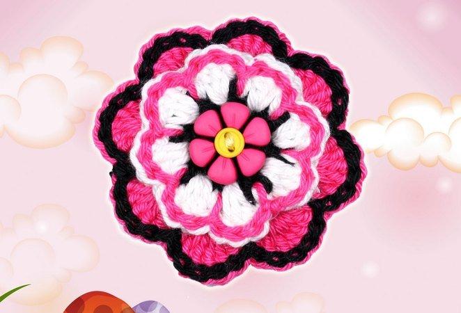 Blume Häkeln Deko Und Applikation