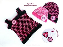 "Spar-Set 2 in 1: Kindertop & Mütze ""Cool Girl"", Gr. 50-116"