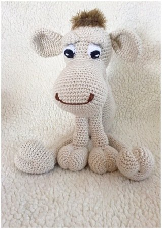 Pattern of a cute camel