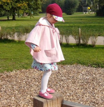 SUSANNE cape / rain cape pattern, sizes 110-152 (5-12 yr)