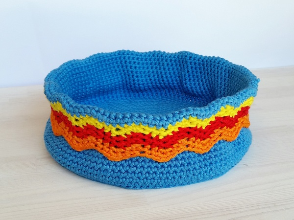 Colorful Basket Collection - Crochet Pattern