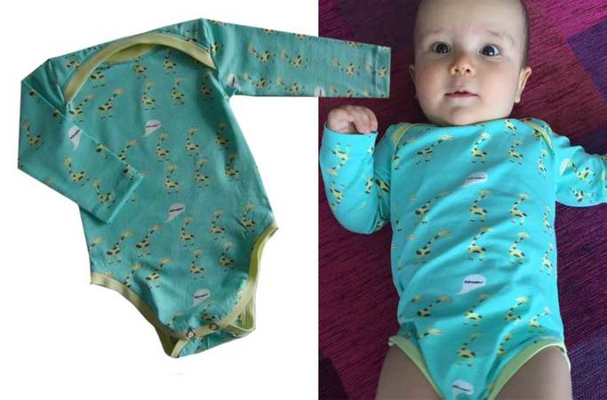ALEXA baby body / onesie pattern, sizes 50-86 (1-24 mo.) / Instant Download