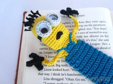Amigurumi Crochet Minion Bookmark