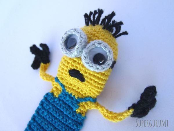 Amigurumi Crochet Minion Bookmark