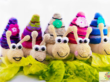 Colorful Tower Snails - Crochet pattern