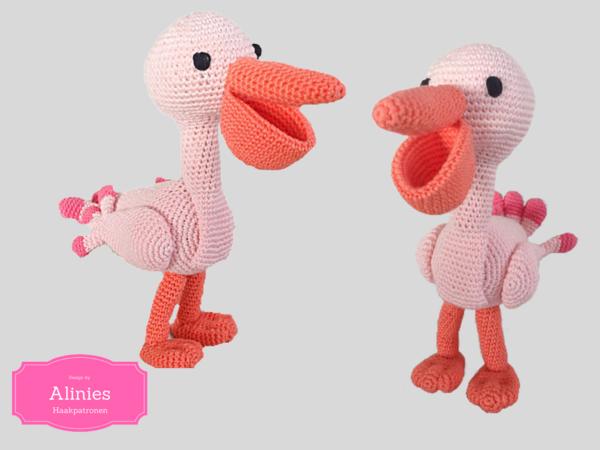 Amigurumi Bird Tutorial : Crochet pattern amigurumi crochet tutorial pdf file pink pelican