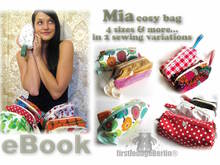 US-Mia *** cosy bag E-Book Pdf-file sewing instruction Without pattern in 4 table sizes handmade with love firstloungeberlin