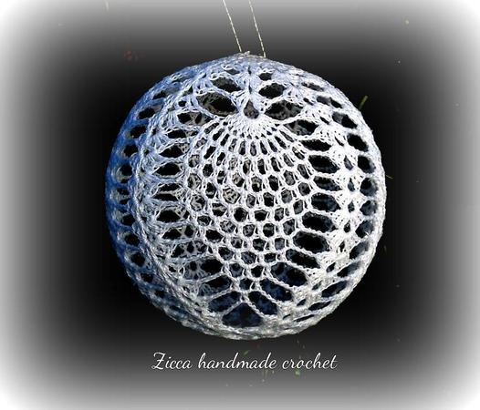 Crochet christmas pineapple ball pattern