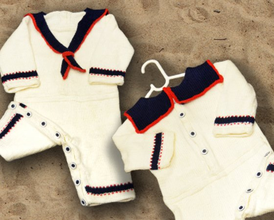 8a61e0cfada2 Ahoy! Sailor Onesie Romper for babies 3