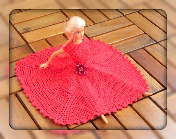 E-Book: romantisches Kleid für Barbie, Barbiekleid häkeln