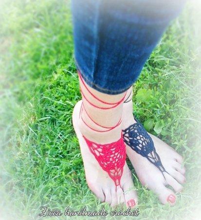 Häkelanleitung - Barfuß Sandalen