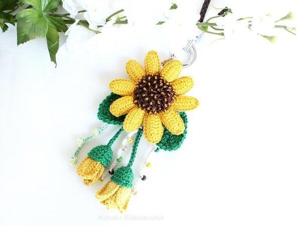 Sonnenblume häkeln // Taschenbaumler häkeln