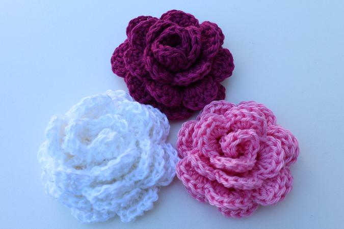 Blume Häkeln Rose Rosenblätter Häkeln