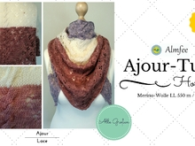 "Lace/Ajour-Tuch ""Hortensia"""