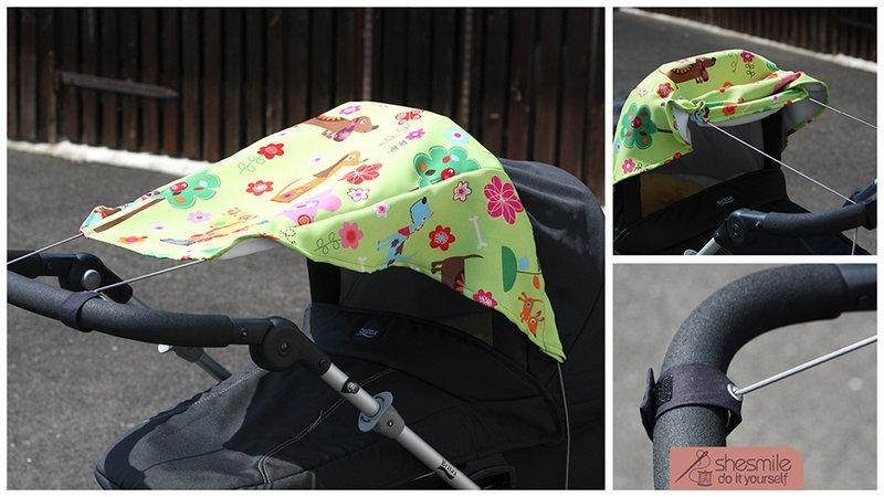 Sonnensegel für den kinderwagen nähanleitung und schnittmuster