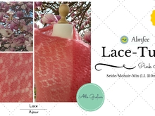 "Lace-Tuch ""Pink Magnolia"""