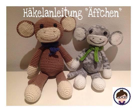 Gratis Affen Häkeln Süße Ohren Amigurumi