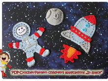 "Crochet pattern: applique for children ""In space"""