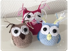 crochet pattern key chain owl